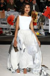 "Kerry Washington carries the Jill Milan Art Deco Clutch to the London premiere of ""Django Unchained,"" Jan 10, 2013. (Photo: Fred Duval / FilmMagic)"