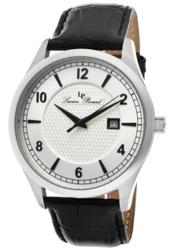 Lucien Piccard Men's Weisshorn Silver Dial Black Genuine Leather