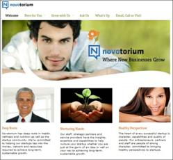 Novotorium's new website.