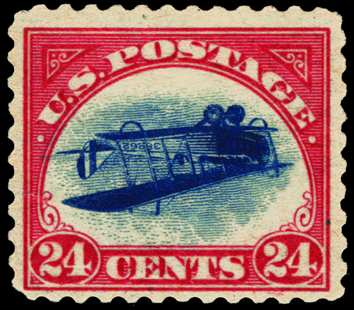 """The """"Inverted Jenny"""" Air Mail Stamp, The Nation's Most"""