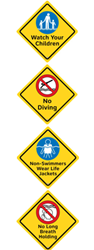 Clarion Safety Systems Pool Safety Signs