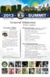 2013 Lacrosse Summit Poster