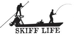 Skiff Life stickers are very popular for Boats, Cars and Coolers.  Subscribers compete by taking pictures of their catch with the decals in view.