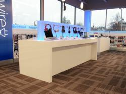 ACS Retail Fixtures manufactured for bluwire Inside Buffalo, NY Office Depot