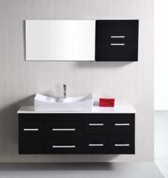 Wall Mounted Bathroom Cabinets on And White Bathroom Vanities For A High Contrast Modern Bathroom Design