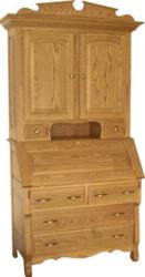 The Empire Four Drawer Secretary Desk and Hutch blends elegance and storage space.