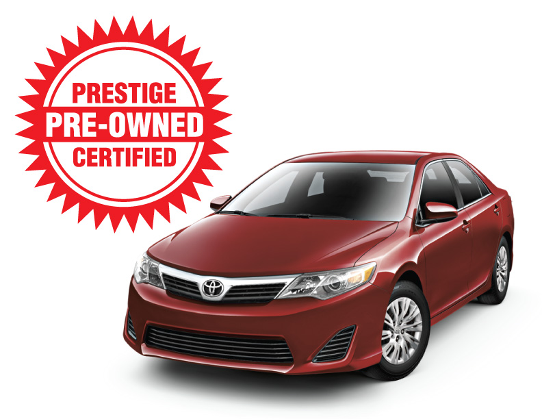 prestige certified pre owned toyota vehicles offer world class value. Black Bedroom Furniture Sets. Home Design Ideas