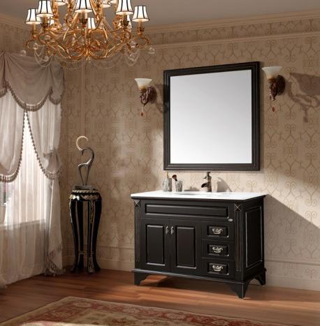 traditional black bathroom vanity from mbm