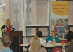 Students in the top-ranked Loyola University New Orleans School of Nursing DNP online program attend orientation.