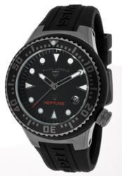 Swiss Legend Neptune Black Dial Silicone timepiec