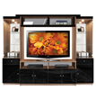 Emma Entertainment Center Black Glass Fronts