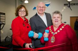 Paul Healey, Mayor of Slough Christine Small and MP Fiona Mactaggart at the launch