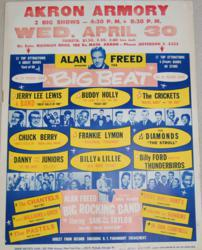 1958 Alan Freed Buddy Holly Big Beat Concert Poster