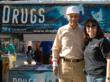 Edith Reuveni with Los Angeles City Councilman Bernard Parks at a Truth About Drugs booth