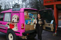 The Havanese Mobile Loaded With 1094 Canned Goods Raised For The Local Food Bank.