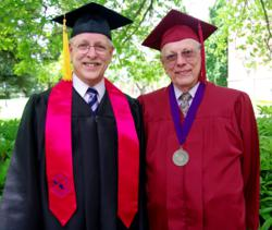 Kent Van Cleave and his father, Al Van Cleave, both graduated with business degrees from Linfield College, one online and one on-campus.
