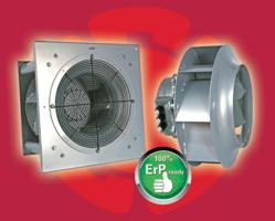 Fans for HVAC systems, variable frequency drives (VFD), fan filter units (FFU), air movement, ventilation, ModBus fans