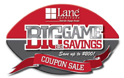 Lane Furniture Big Game - Big Savings Sale Logo