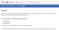 Malaysia Google Certification Program (GCP)