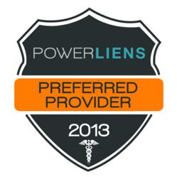 Official seal given only to Power Liens Preferred Providers