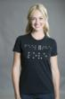 photo of geeky Braille t-shirt that says Feel the Love from Tees For Your Head