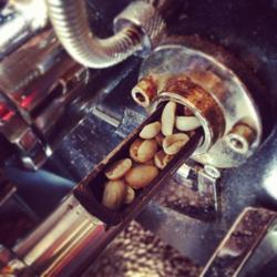 Sampling Coffee During Roasting