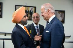 Dr. Rajwant Singh and Vice President Biden at the White House