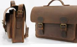 leather satchel for documents and laptop
