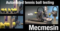 tennis, tennis balls, automated testing, ITF, International Tennis Federation, Mecmesin, QA, Quality Control