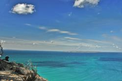 Lookout at Pyramid Point in the Sleeping Bear Dunes