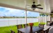 A patio cover from Venetian Builders, Inc., Miami. A patio cover is the least expensive way to add instant play space for children or adults.