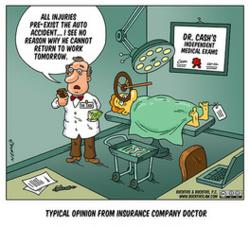 Typical Opinion From Insurance Company Doctor