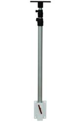 Adjustable Equipment Mounting Pole with Surface Mount Bracket