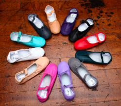 ballet shoes, ballet flats, ballet slippers, colored ballet shoes, colored ballet flats, red ballet shoes