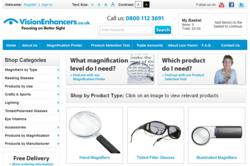 Vision Enhancers Website Home Page