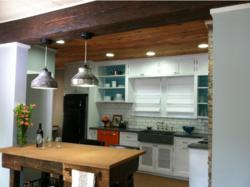 Faux wood beams provide the consistent results design TV shows require