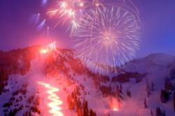 Alta Ski Area Celebrates its 75th seaon with fireworks and a torchlight parade
