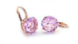Custom Jewelry: 14K Rose Gold with diamond accents and Pink Topaz;