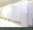 Standard toilet partitions