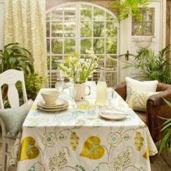 Tablecloth made from the new Wild Garden fabric collection