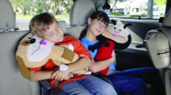 SeatPets are plush pillows with a seat belt attachment that provide comfort and support to your child's neck and head.