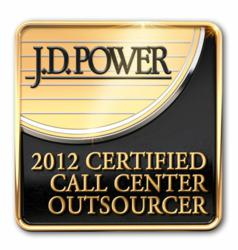 JD Power and Associates Certified Call Center Outsourcer for Financial Services