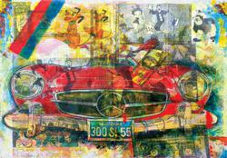 """ANTHONY JAMES COFFEY """"Booped,""""  2012 solvent transfer, oil, and crayon on canvas 48 x 64 inches at Ward-Nasse Gallery"""