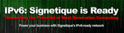 Signetique announces New IPv6 Hosting Plans for 2013
