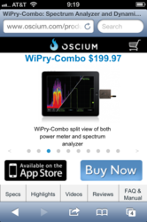 Oscium Mobile Product Page