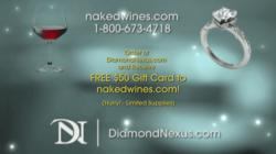 man made diamond, affordable engagement ring, free, wine, naked, wine, valentine, gift,