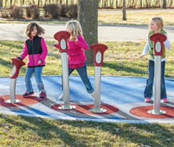 Pulse™ Tempo adds multisensory fun to the playground with lights, sound, touch and more movement.