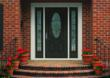 Arden decorative glass on Therma-Tru fiberglass door.
