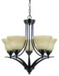 The new Brockton Collection five-light chandelier by Sea Gull Lighting