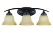 The new Brockton Collection three-light bath by Sea Gull Lighting